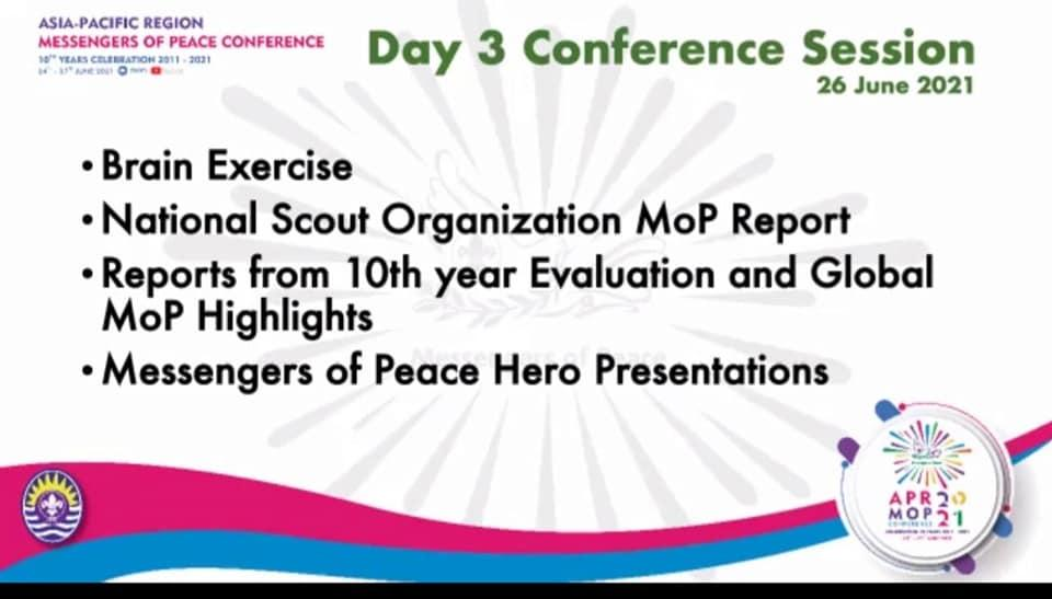 MESSENGERS OF PEACE HERO PRESENTATION- DAY 4 APR MOP CONFERENCE