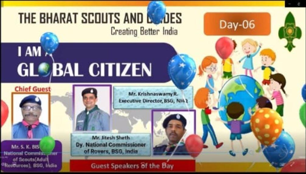 REPORT OF WEBINAR CONDUCTED BY BHARAT SCOUTS AND GUIDES DAY 6