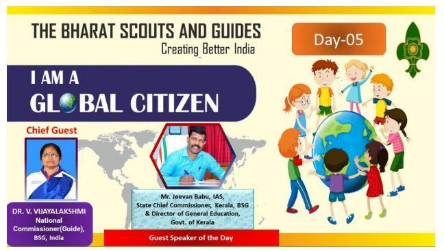 REPORT OF WEBINAR CONDUCTED BY BHARAT SCOUTS AND GUIDES DAY 5