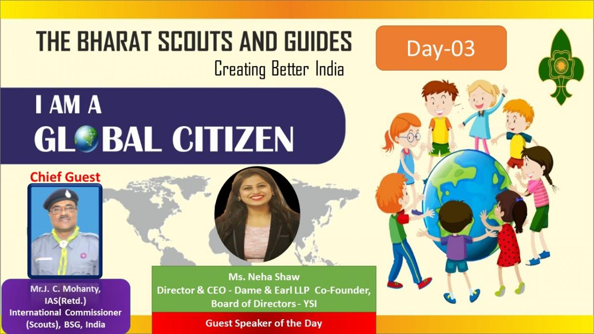 REPORT OF WEBINAR CONDUCTED BY BHARAT SCOUTS AND GUIDES DAY 3