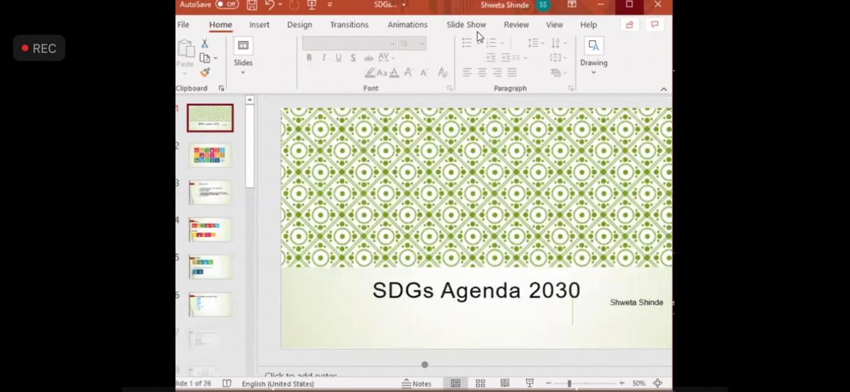 REPORT FOR THE WEBINAR OF SUSTAINABLE DEVELOPMENT GOALS DAY 4