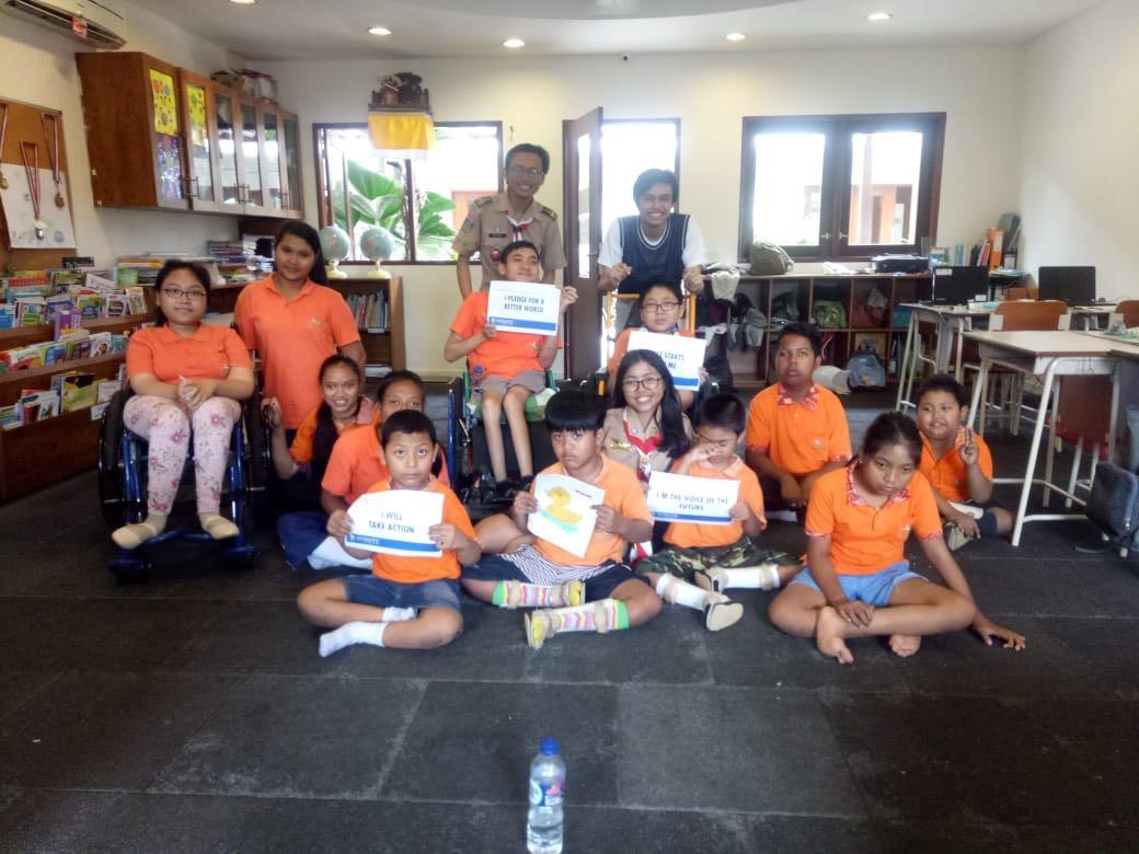 Celebrating International Day of Peace 2018 - Messengers of Peace Volunteers Bali ft. Scouts with Disabilities