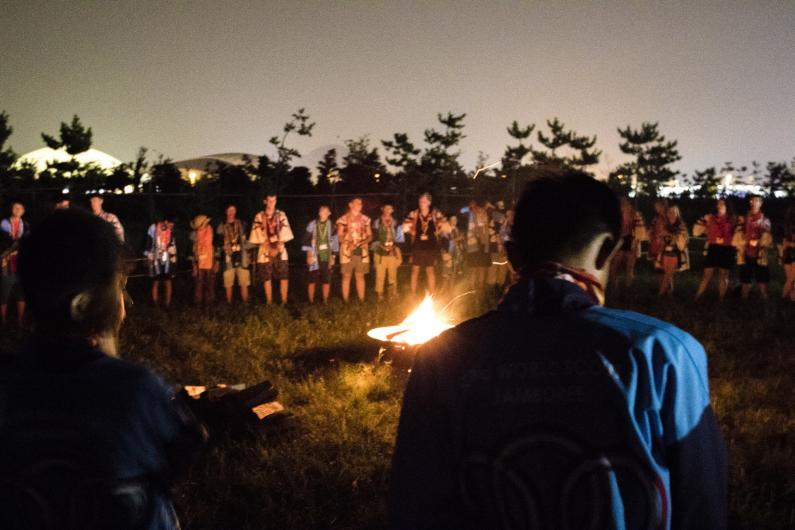 Scouts around the campfire